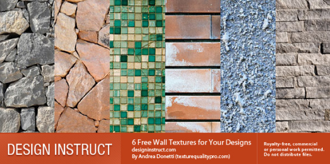 6 Free Wall Textures for Your Designs