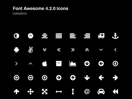 Font Awesome Icons by Greg Shuster