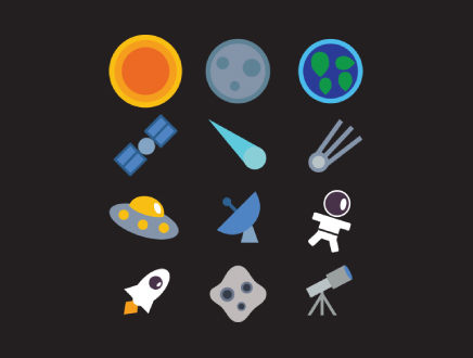 Space Icon Set Free Download by Volodymyr